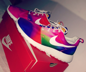 nike, rainbow, and sport image