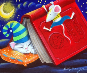 book, mouse, and night image