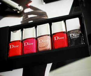 dior, nail polish, and nails image