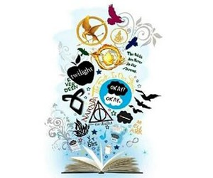 book, twilight, and divergent image