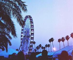 coachella, summer, and palm trees image