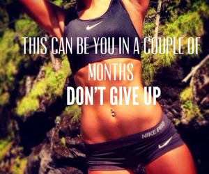 don't give up and fitness motivation image