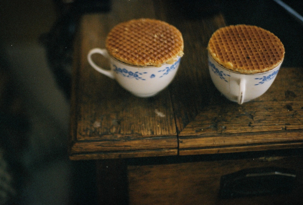 waffles, cup, and vintage image