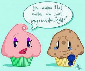 cupcake, muffin, and funny image