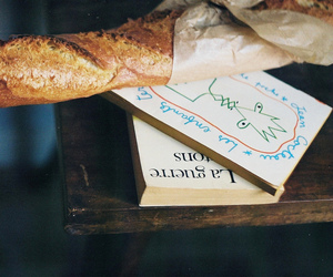 book, bread, and food image