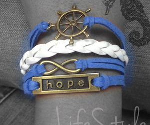 blue, hope, and infinito image