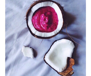 food, coconut, and pink image