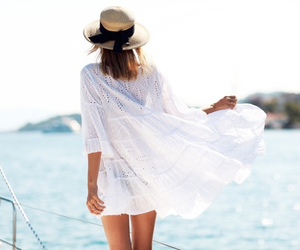 girl, summer, and white image