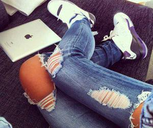 jeans, ipad, and apple image