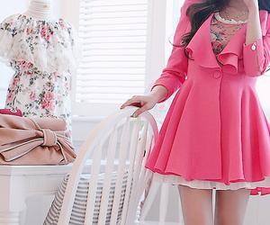 coat, korean fashion, and dress image