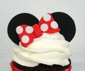 cupcake, minnie, and food image