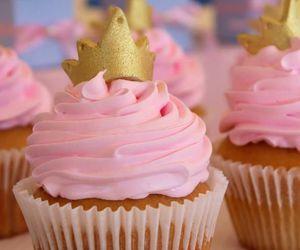 cupcake, pink, and princess image