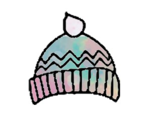 background, beanie, and colorful image