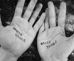 hands, love, and miss image