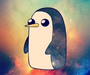 penguin, adventure time, and gunter image