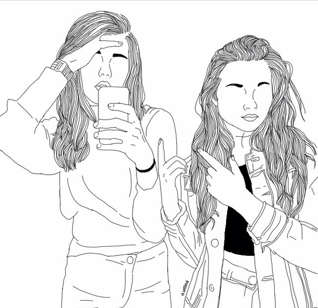 141 Images About OUTLINE ART On We Heart It