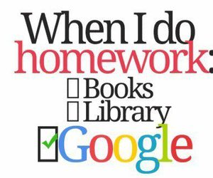 homework, google, and book image