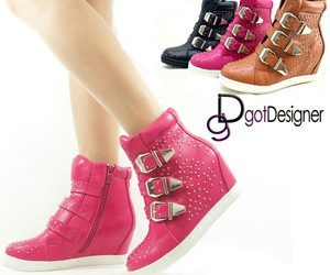 girly, sneaker, and pink image
