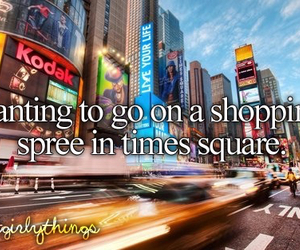 shopping, times square, and just girly things image