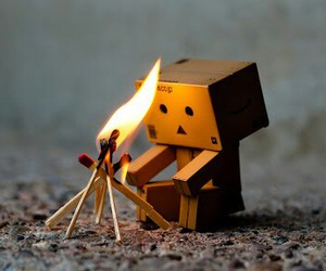 danbo and fire image