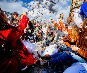 bucharest, pillowfight, and romania image