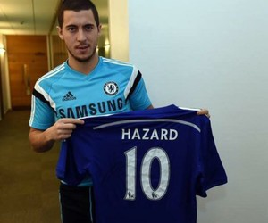 Chelsea FC, football, and hazard image