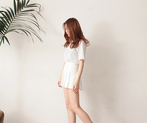 kfashion, white, and pleated skirt image