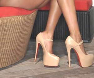 beige, high heels, and plateau image