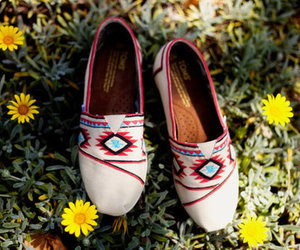toms, shoes, and flowers image