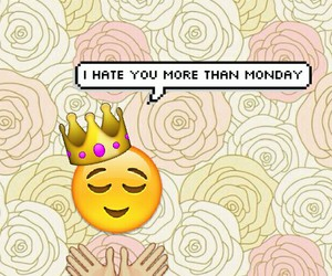 flowers, hate you, and pink image