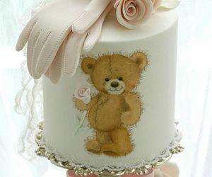 bridal, cake, and roses image
