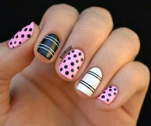 black, white, and nails image