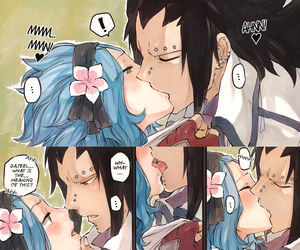 levy, fairy tail, and anime kiss image