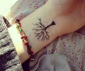 arbol, tatto, and black image