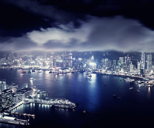 asia, city, and lights image