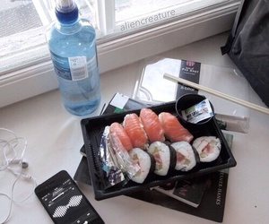 sushi, grunge, and pale image