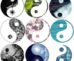 yang, ying yang, and peace image