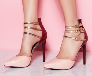 fashion, heels, and gold image