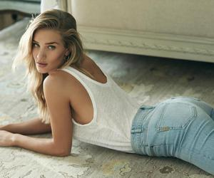 blonde, jean, and model image
