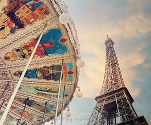 carousel, france, and paris image