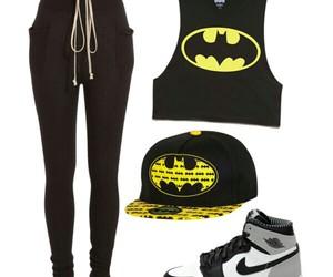 style, jordans, and batman image