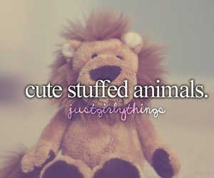 cute, animal, and stuffed image