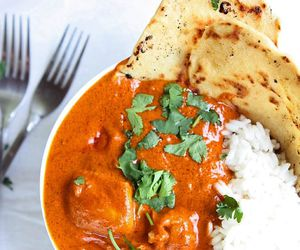food, indian, and naan image