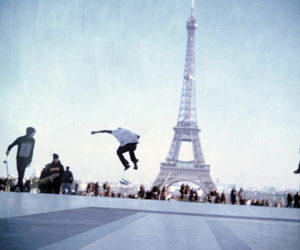 paris, skateboard, and photography image