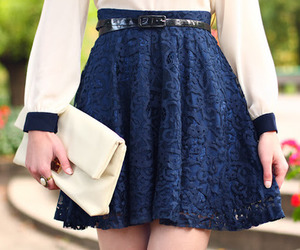 skirt, fashion, and blue image