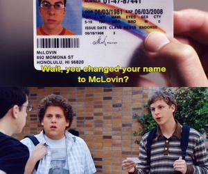 mclovin, superbad, and michael cera image
