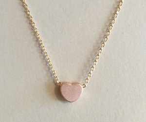 heart necklace, silver heart, and gift for her image