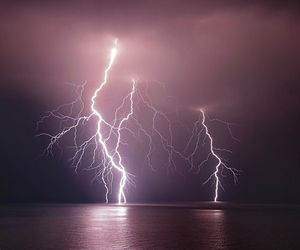 lightning and pink image