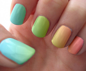 colourful, nails, and rainbow image