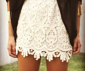 fashion, skinny, and lace image